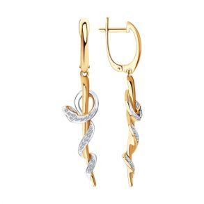 Серьги Змеи из золота с бриллиантами 1021464 SOKOLOV