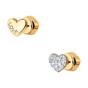 Серьги из золота с бриллиантами 1021470 SOKOLOV