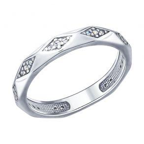 Кольцо из серебра с фианитами 94012400 SOKOLOV