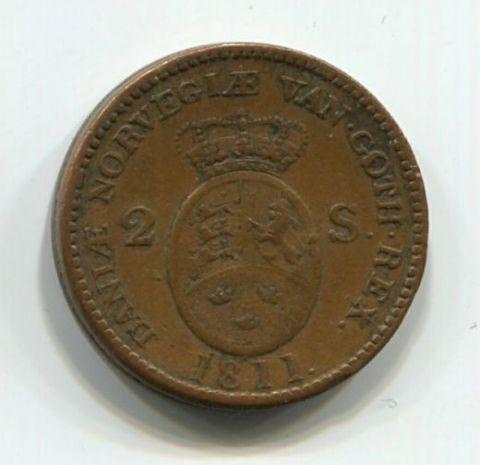 2 скиллинга 1811 года Дания