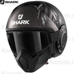 Шлем Shark Street Drak Crower, Черный матовый с серым