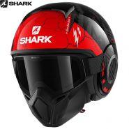 Шлем Shark Street Drak Crower, Черно-красный