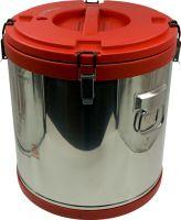 Термобочка из нержавеющей стали Steel для еды и напитков 40 литров красная