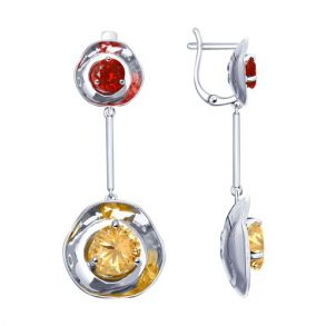 Серьги из серебра с фианитами 8-94020011 SOKOLOV