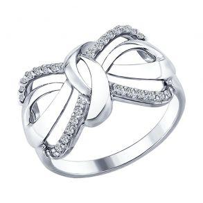 Кольцо из серебра с фианитами 94012296 SOKOLOV