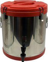 Термобочка из нержавеющей стали Steel с краном 40 литров красная
