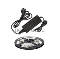 Набор светодиодная лента LS 35CW-60/33-5-AP 60LED 24Вт IP33 6000K холодный белый 5м, адаптер IN HOME