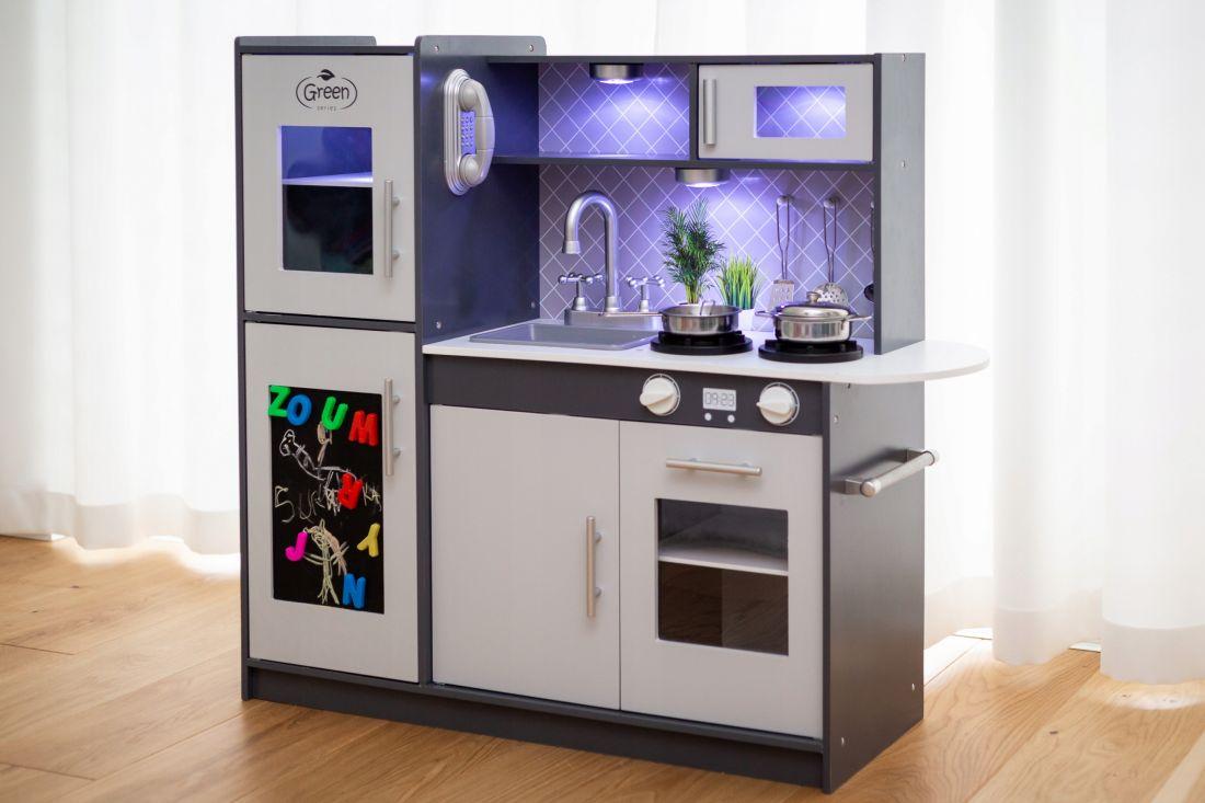 Деревянная кухня с подсветкой Kinderplay GS0057