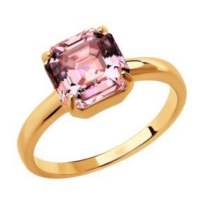 Кольцо из золочёного серебра 93010834 SOKOLOV