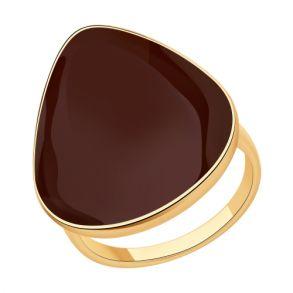 Кольцо из золочёного серебра с эмалью 93010835 SOKOLOV