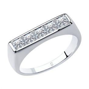 Кольцо из серебра с фианитами 94013103 SOKOLOV