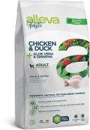 Alleva Holistic Chicken & Duck + Aloe vera & Ginseng Medium Полнорационный сухой корм для взрослых собак средних пород с курицей и уткой, 12 кг