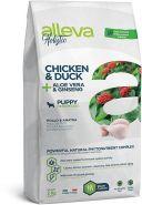 Alleva Holistic Chicken & Duck + Aloe vera & Ginseng Puppy Medium Полнорационный сухой корм для щенков средних пород, беременных и кормящих сук с курицей и уткой, 12кг