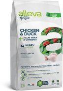 Alleva Holistic Chicken & Duck + Aloe vera & Ginseng Puppy Maxi Полнорационный сухой корм для щенков крупных пород, беременных и кормящих сук с курицей и уткой, 12кг