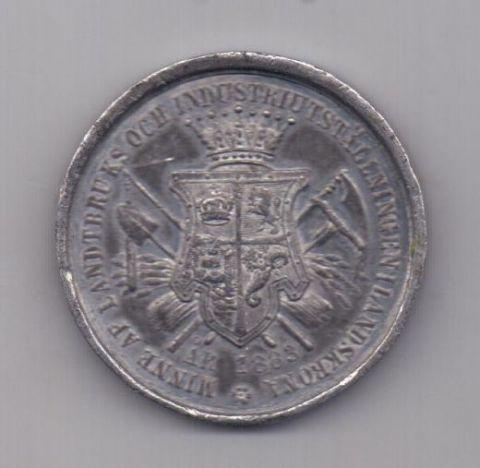 медаль 1883 года XF Швеция