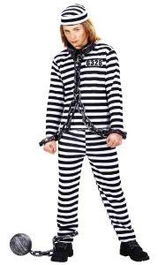 Костюм заключенного белый