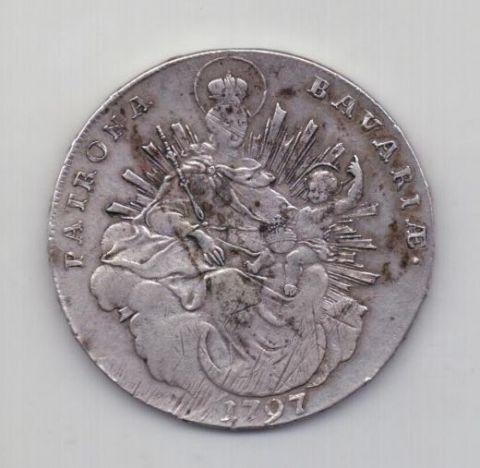 1 талер 1797 года AUNC Редкий!!! Бавария Германия