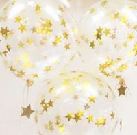 Набор шаров с золотым конфетти Звезды