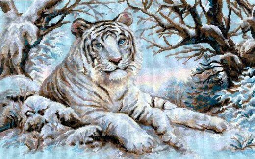 Набор для вышивания крестом Бенгальский тигр №1184 фирма Риолис