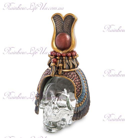 "Флакон египетский головной убор на стеклянном черепе ""Veronese"""