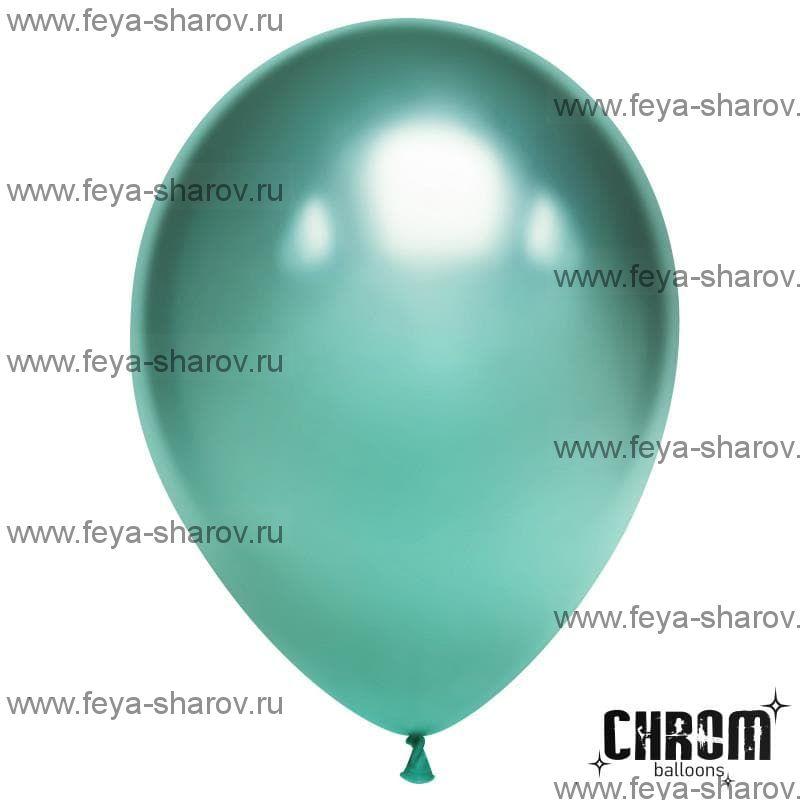 """Шар 11"""" (29см) Хром Зеленый"""
