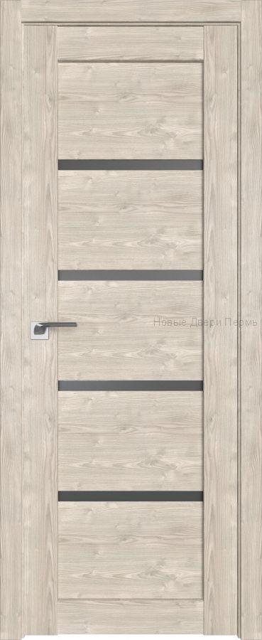 2.09 XN Каштан светлый стекло Графит дверь PROFIL DOORS межкомнатная