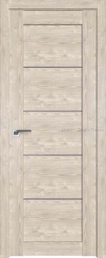 2.11 XN Каштан светлый стекло Графит дверь PROFIL DOORS межкомнатная