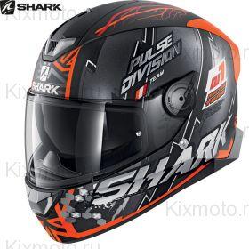 Шлем Shark Skwal 2 Noxxys, Черно-оранжевый