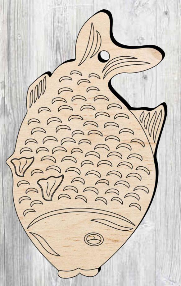 Доска разделочная в виде рыбы