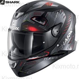 Шлем Shark Skwal 2 Venger, Черно-красный матовый