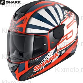 Шлем Shark D-skwal 2 Zarco ,Оранжевый