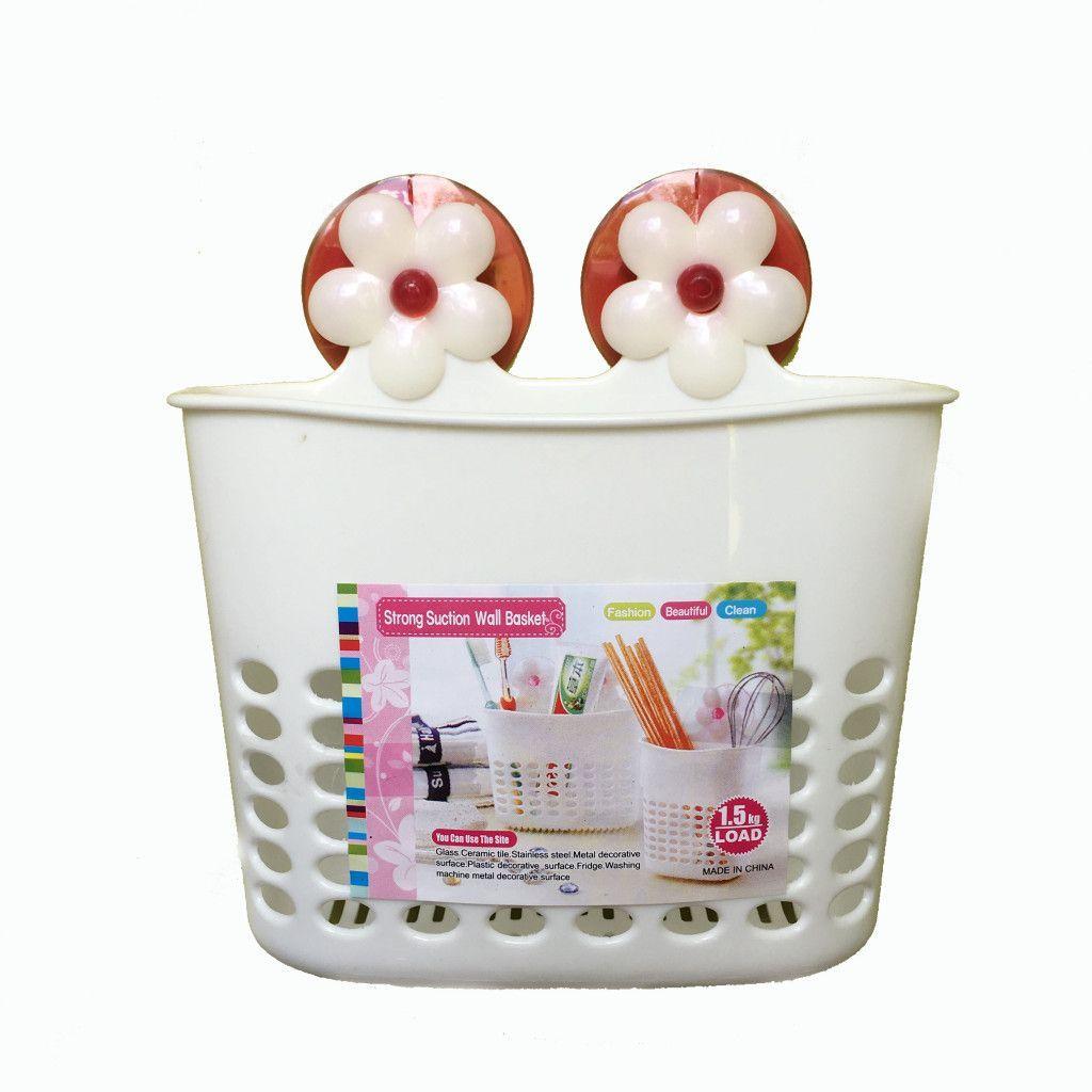 Органайзер для ванных принадлежностей на присосках