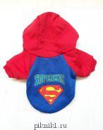 Спортивная толстовка с капюшоном - супермен