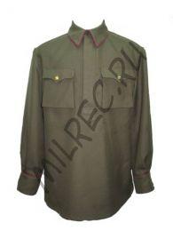 Гимнастерка (рубаха) для комначсостава обр. 1935 г.из полушерстяной ткани,  реплика  (под заказ)