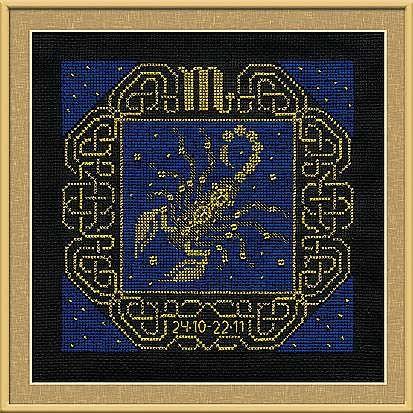 Набор для вышивания крестом Скорпион №1208 фирма Риолис