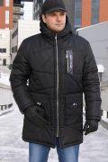 Черная зимняя мужская куртка