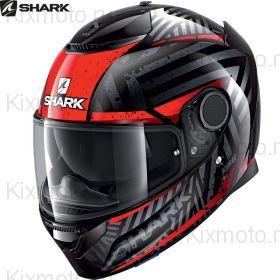 Шлем Shark Spartan 1.2 Kobrak, Черно-красный