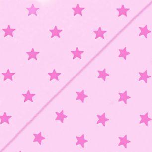 Хлопок со звёздами розовый 50х40см