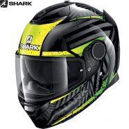 Шлем Shark Spartan 1.2 Kobrak, Черно-желто-зеленый