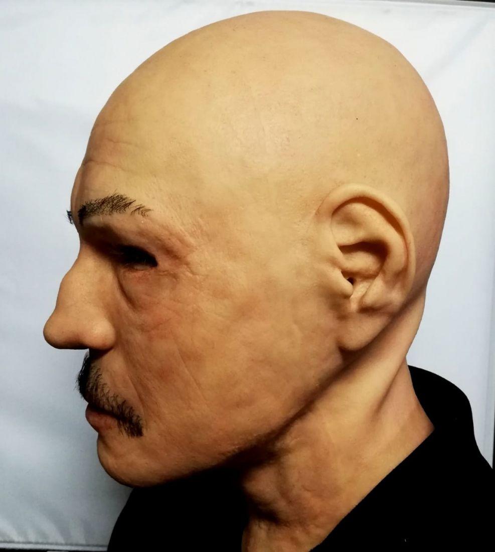 Реалистичная маска из силикона Мужик с усами