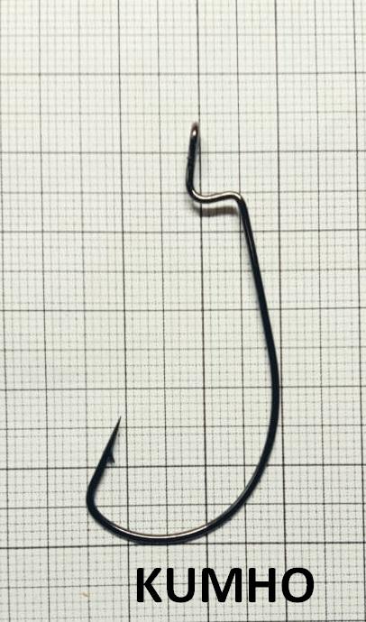 Крючок офсетный KUMHO серия BS-3315, увеличенное ушко