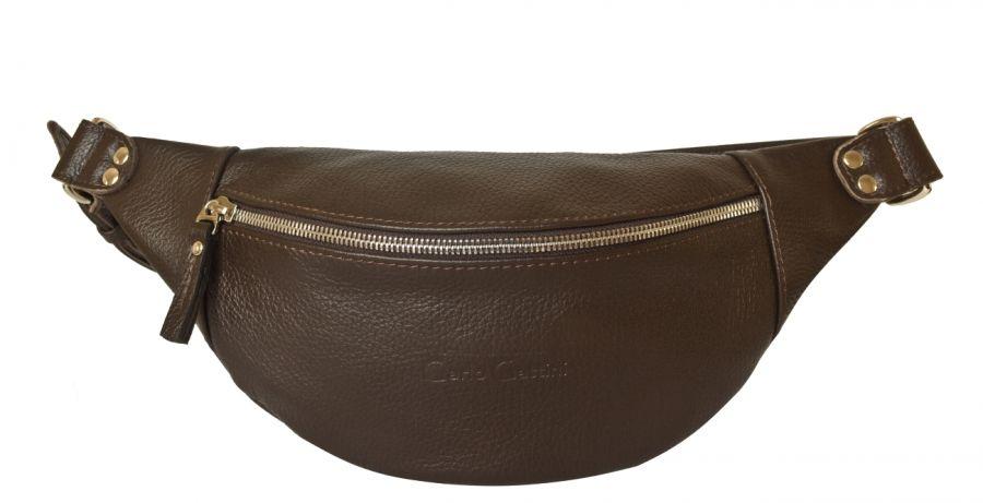 Кожаная поясная сумка Carlo Gattini Belfiore brown