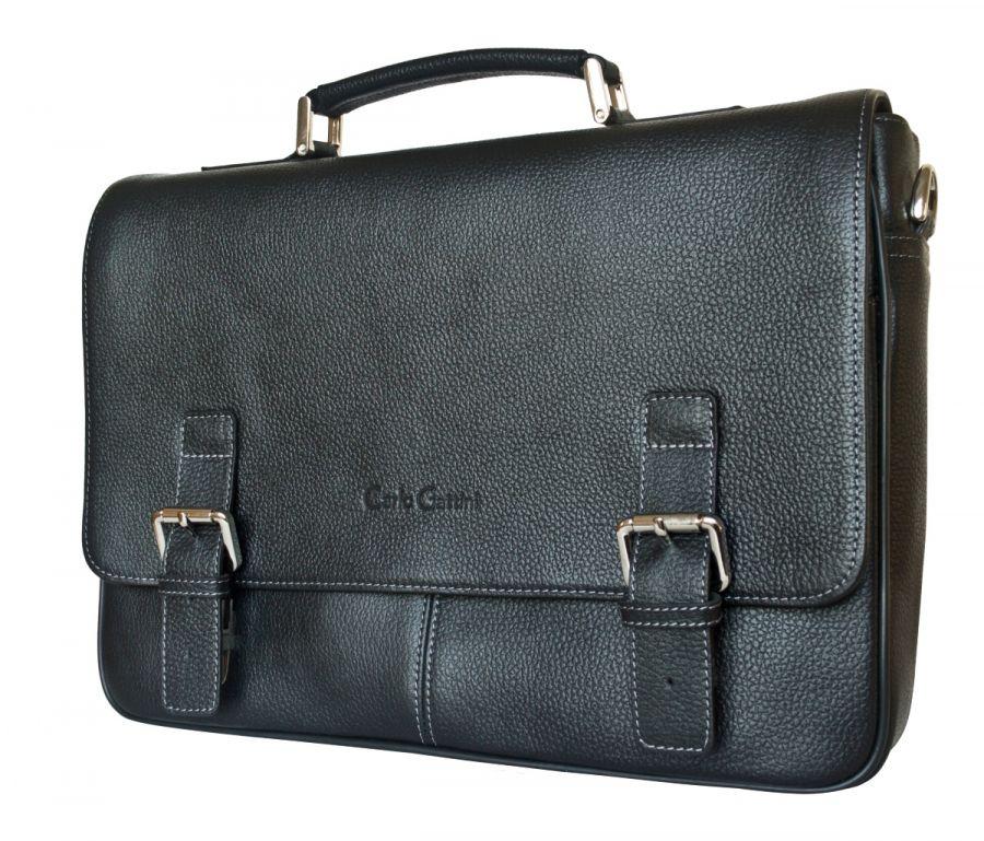 Кожаный портфель Carlo Gattini Saletto black