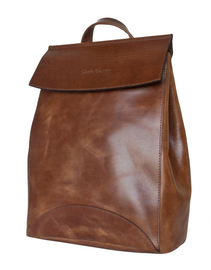 Женская сумка Carlo Gattini рюкзак Carlo Gattini Antessio cognac