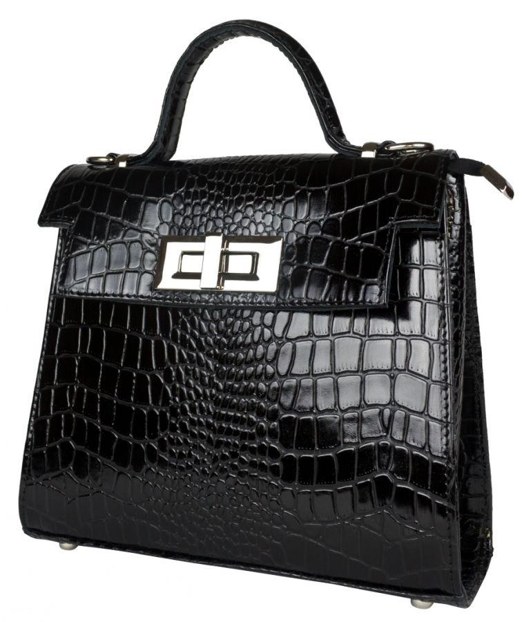 Кожаная женская сумка Carlo Gattini Arillette black