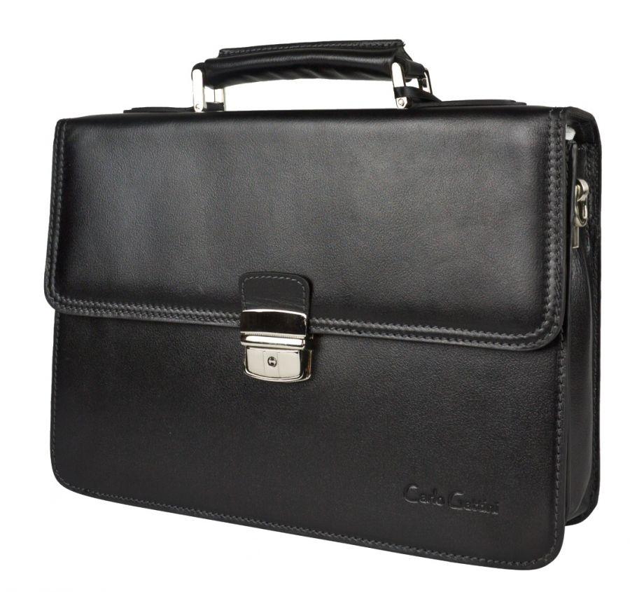 Кожаный портфель Carlo Gattini Biforco black
