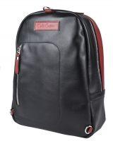 Кожаный рюкзак Carlo Gattini Albera black/red