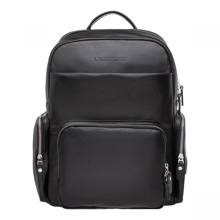 Кожаный рюкзак LAKESTONE Seddon Black
