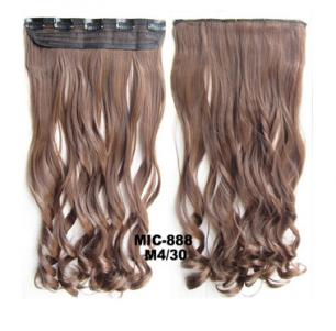 Искусственные термостойкие волосы на заколках на трессе волнистые №М4/30 (55 см) - 1 тресса, 100 гр.