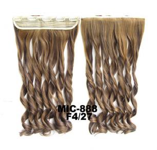 Искусственные термостойкие волосы на заколках на трессе волнистые №F4/27 (55 см) - 1 тресса, 100 гр.